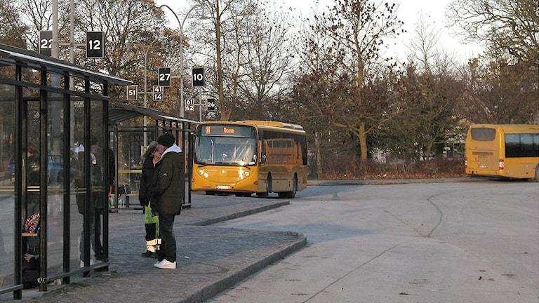 Visby busstation. Arkivfoto: Henrik Wallenius/SR Gotland