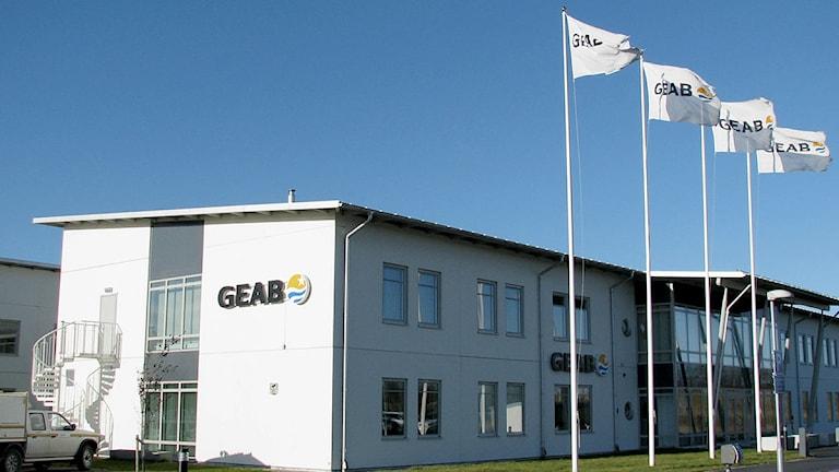 Geabs huvudkontor i Visby. Foto: Henrik  Wallenius/SR Gotland
