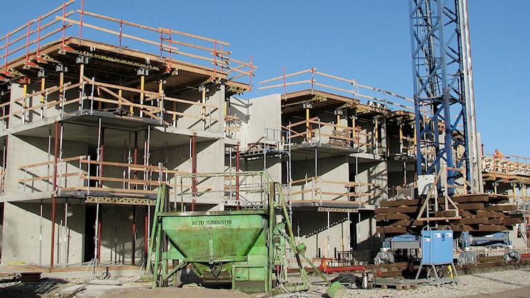 Byggarbetsplats i Visby.Foto: Henrik Wallenius/SR Gotland