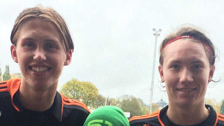 Emil Engqvist och Marcus Burman i FC Gute