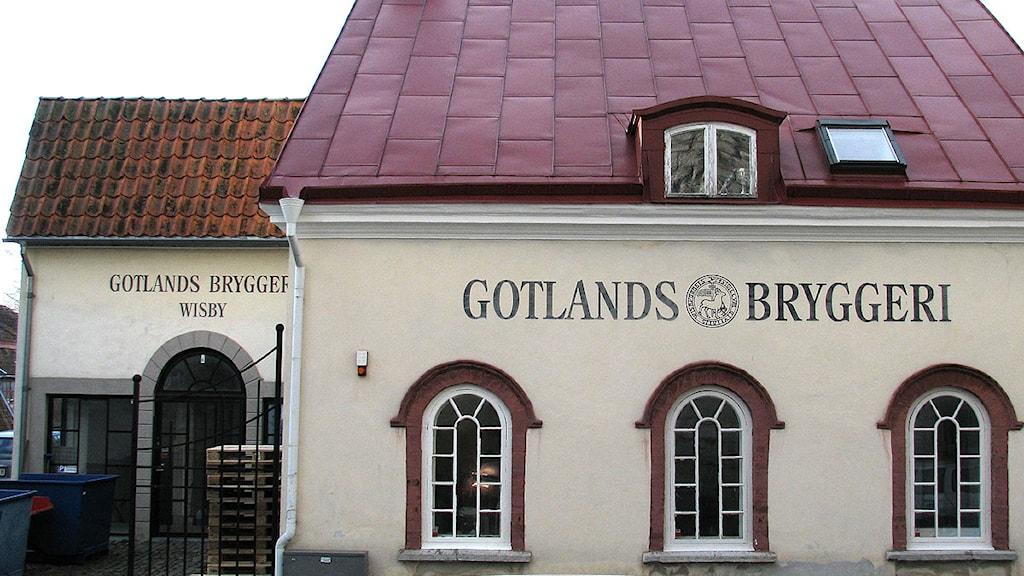 Gotlands Bryggeri i Visby. Foto: Henrik Wallenius/SR Gotland