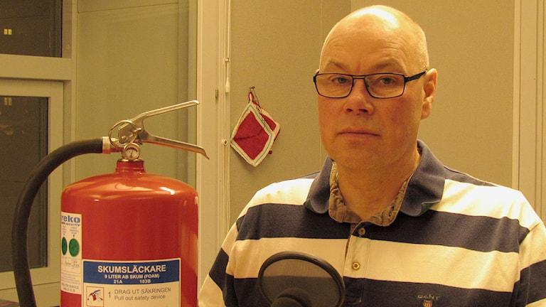Dick Svennefelt, räddningschef på Gotland. Foto: Henrik Wallenius/SR Gotland