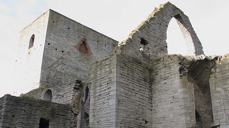 S:t Drottens ruin i Visby innerstad. Foto: Henrik Wallenius/SR Gotland