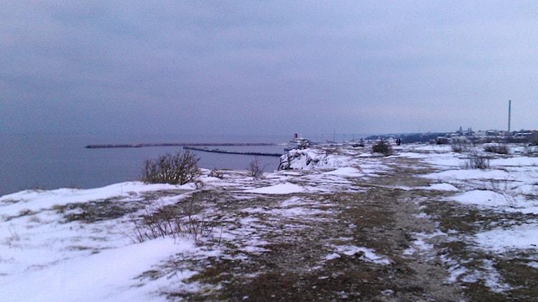 Området södra Hällarna mot Visby.