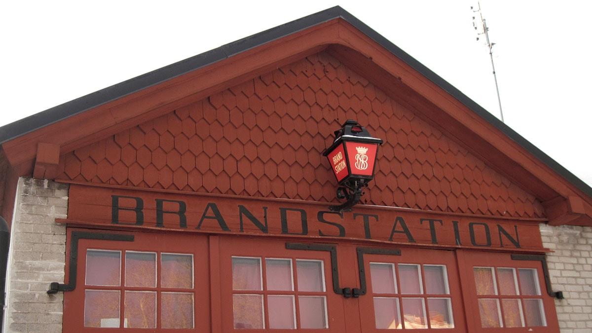 röd lampa brandstation