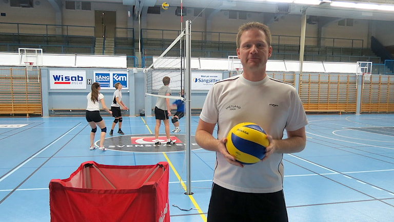 Ronny Jacobsson Team Gotland i volleyboll. Foto: Johannes Hallbom/SR Gotland