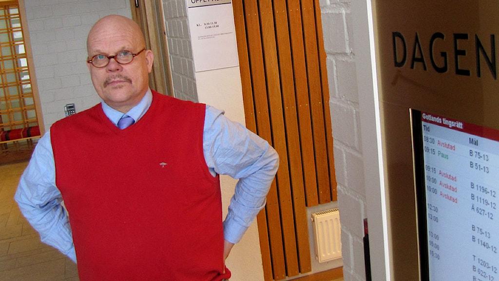 Lagman Mikael Mellqvist i Gotlands tingsrätt. Foto: Patrik Widegren/SR Gotland