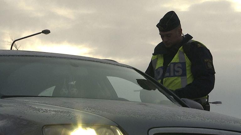 Poliskontroll. Foto Anna Eriksson SCANPIX