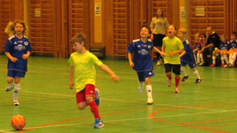 Väskinde 3A mötte Fårösund 3 och spelade oavgjort. Foto: Mari Winarve/SR Gotland