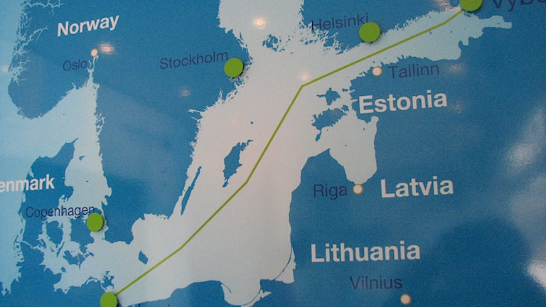 Plans for the Nord Stream 2 gas pipeline. Photo: SR Gotland