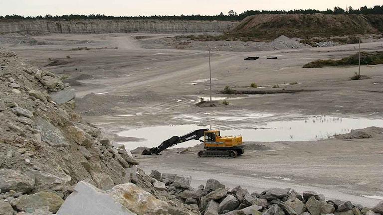 Nordkalks stenbrott i Klintehagen på Gotland. Foto:Henrik Wallenius/SR Gotland