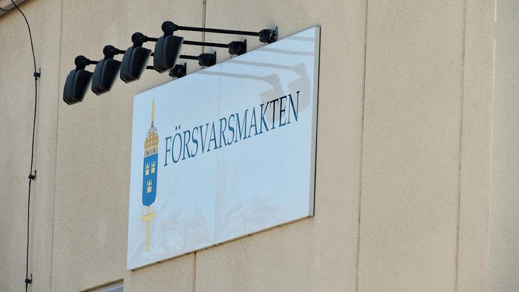 Försvarsmakten Visby. Foto: Filip Joelsson/SR Gotland