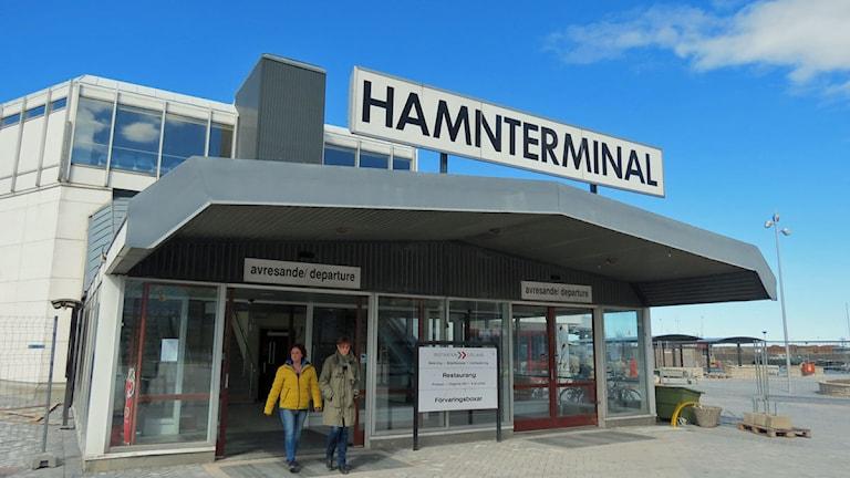 Hamnterminalen i Visby. Foto: Filip Joelsson/Sveriges Radio