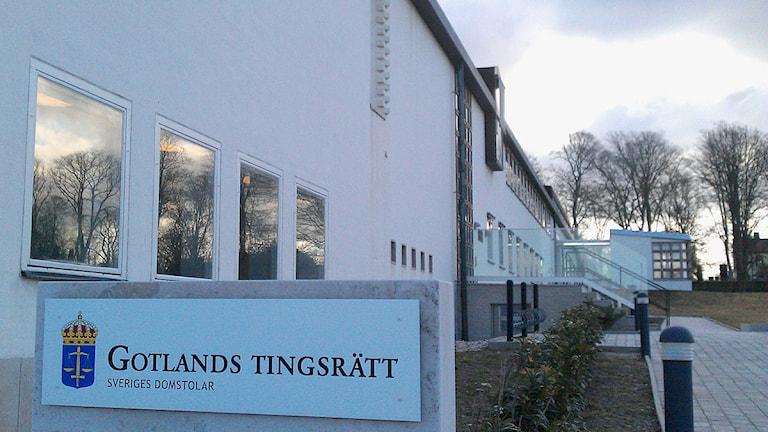 Gotlands tingsrätt. Foto: Henrik Wallenius/SR Gotland