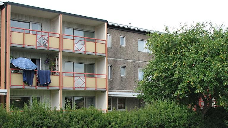 Gotlandshems lägenheter i kvarteret Stäven i Visby. Foto: Henrik Wallenius/SR Gotland