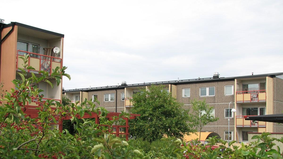 Gotlandshems bostäder i kvareteret Stäven i Visby. Foto: Henrik Wallenius/SR Gotland