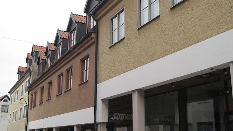 Kvarteret Östertull innanför Visby ringmur. Foto: Henrik Wallenius/SR Gotland