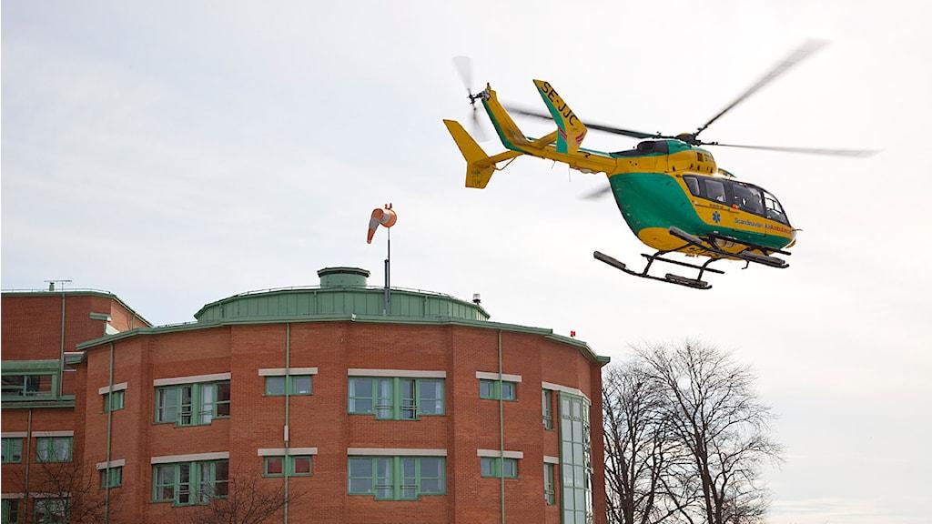 Ambulanshelikopter. Foto: Gunnar Britse