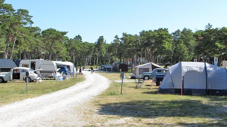 Snäcks camping. Arkivfoto: Lasse Ahnell/SR Gotland