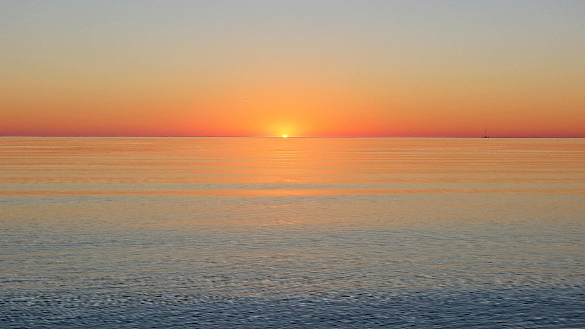 Sol, hav