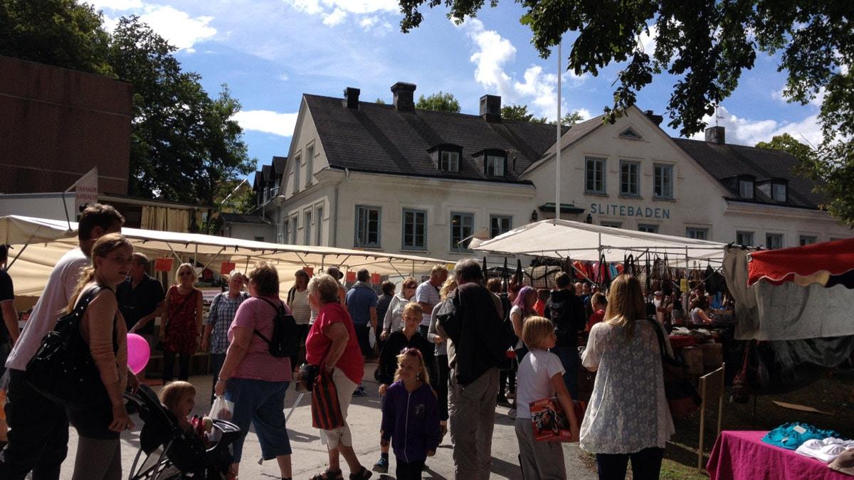 Slite marknad 2013. Foto: Mika Koskelainen/SR Gotland