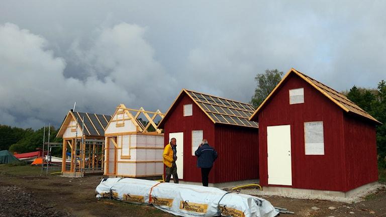 Nya strandbodar i Ljugarn. Foto: Karin Brindt/SR Gotland