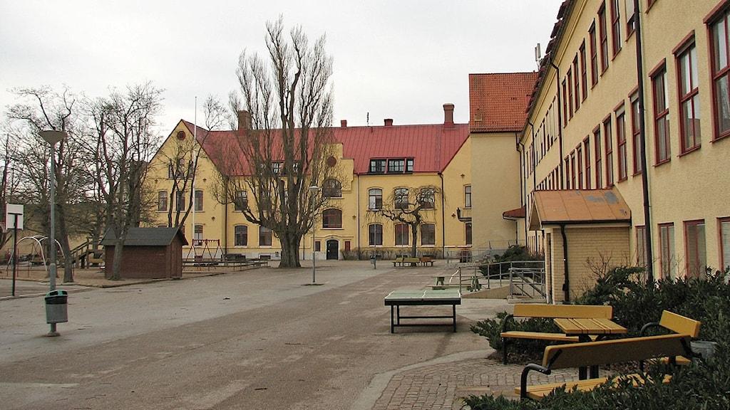 Solbergaskolan i Visby. Foto: Henrik Wallenius/SR Gotland