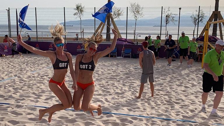 Beachvolleyboll Sofia Uddin och Sofia Wahlén