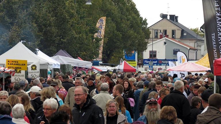 Hemse stortorgdag. Foto: Dag Svensson/P4 Gotland Sveriges Radio