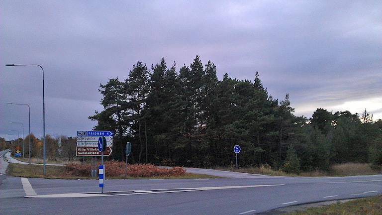 Här ska Västerhejde nya skola ligga.