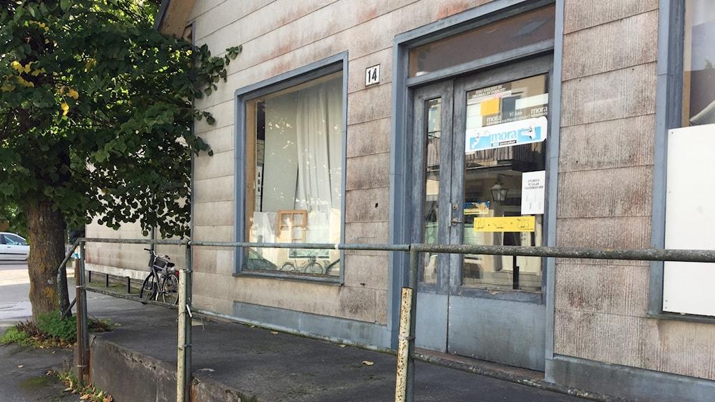 Stängd affär i Klintehamn