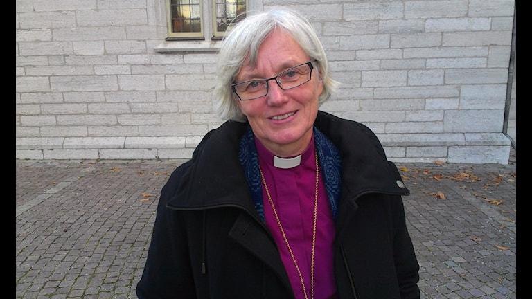 Antje Jackelén i Visby. Foto: Patrik Annerud/SR Gotland