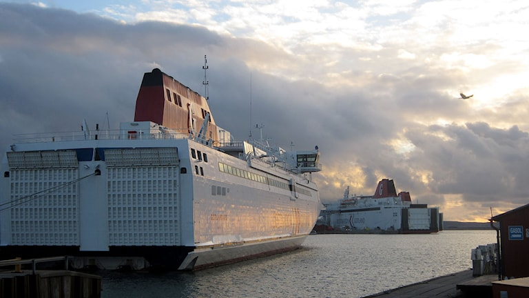 Destination Gotlands färjor i Visby hamn. Foto: Jonas Neuman/P4 Gotland Sveriges Radio