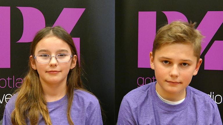 Sanda skola: Emy Vestergren och Theo Devallius