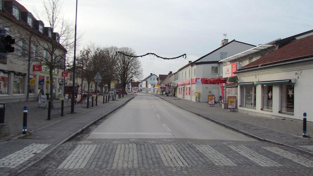 Storgatan i Hemse. Foto: Cristina Jardim Ribeiro/P4 Gotland Sveriges Radio