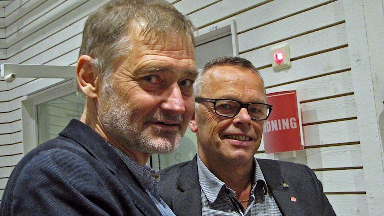 Tf regiondirektör Per Lindskog och regionstyrelseordf Åke Svensson