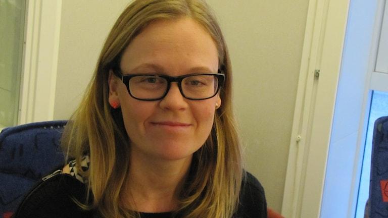 Feministiska debattören Nina Ruthström. Foto: Lasse Eskelind/P4 Gotland Sverigesradio