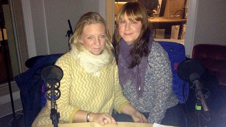Meit Fohlin och Charlotte Andersson, S-kvinnor Gotland. Foto: Sveriges Radio.