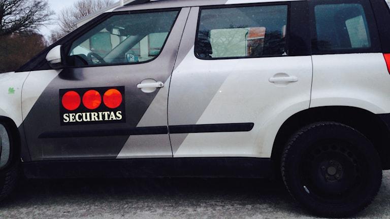 Väktarbil. Foto: P4 Gotland Sveriges Radio