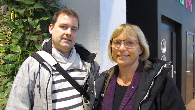 Stefan Wramner och Eva Nypelius. Foto: Lasse Eskelind/P4 Gotland Sverigesradio
