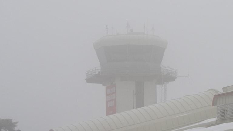Dimma över flygplatsen i Visby. Foto: Cristina Jardim Ribeiro/P4 Gotland