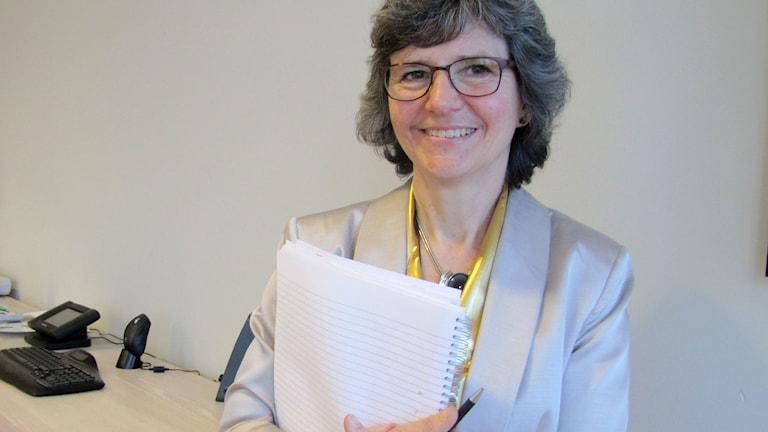 Hälso- och sjukvårdsdirektör Maria Dalemar. Foto: Ulrika Uusitalo-Fernholm/P4 Gotland Sveriges Radio