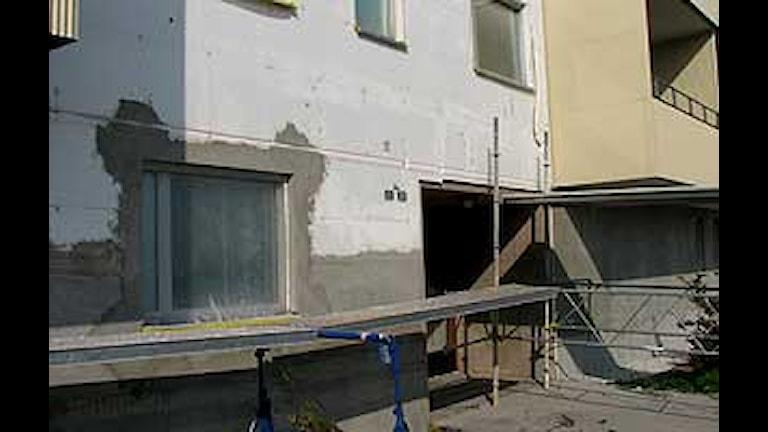 Renovering i Gotlandshem. Foto: Jonas Neuman/SR Gotland