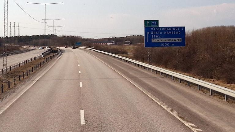 Nynäsvägen. Foto: Eva Sjöstrand/P4 Gotland Sveriges Radio