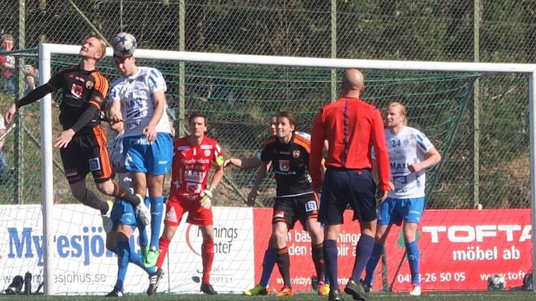 FC Gute mot Eskilstuna på Rävhagen IP.