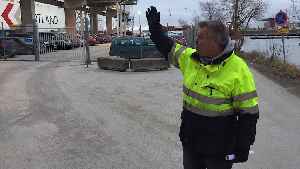 Mats Eriksson, Region Gotlands hamnchef. Foto: Johan Hellström/Sveriges Radio