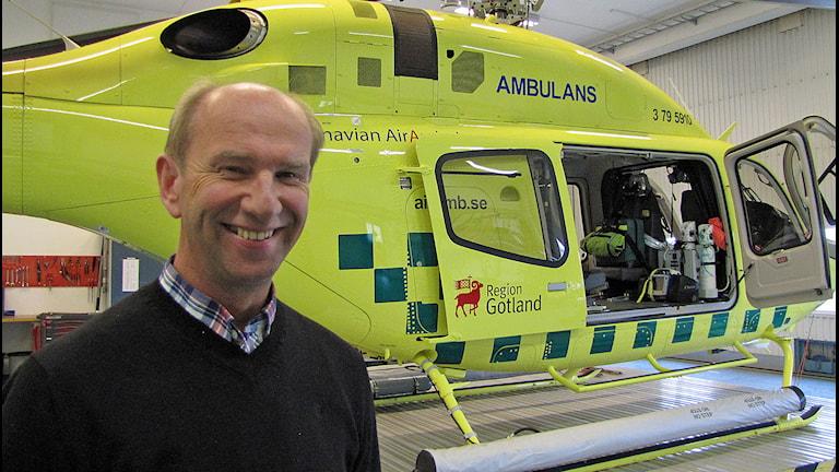 Henry Hansen, vd Scandinavian air ambulance.