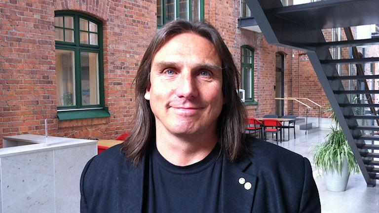 Johan Kallum säkerhetschef vid Region Gotland. Foto: Daniel Värjö/P4 Gotland Sveriges Radio