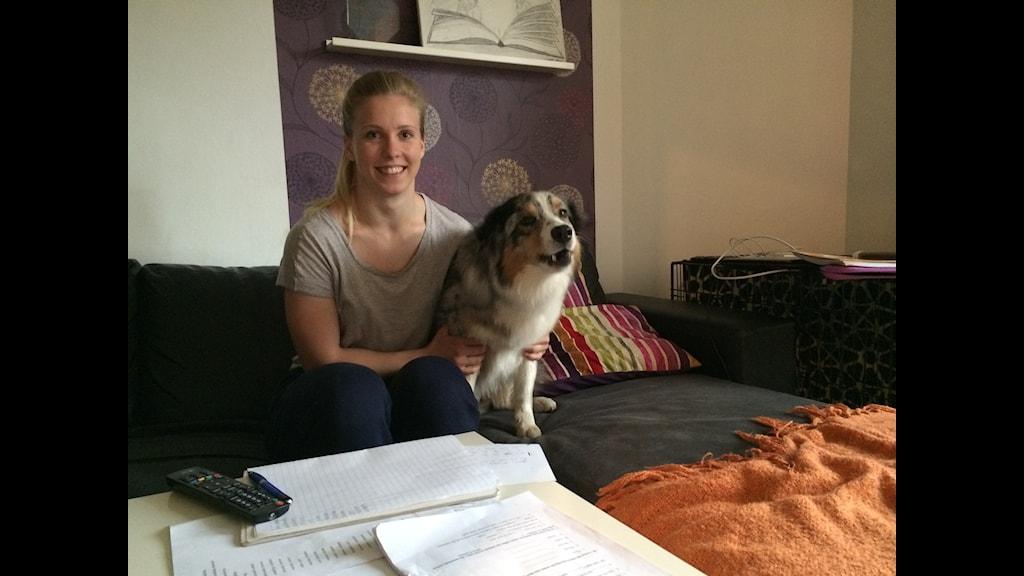 Carita Hansson flyttade till Kalmar för att studera. Nu flyttar hon till Eskilstuna för att satsa helhjärtat på tyngdlyftning. Foto: SR Hanna Sihlman