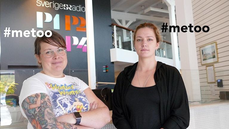 Emma Hällström och Therese Hallgren har båda delat hashtagen #metoo
